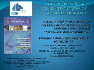 ASOCIACION BOLIVIANA DE INGENIERIA SANITARIA Y AMBIENTAL FILIAL-CBBA