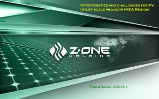 Opportunities andchallenges for PV utility scale projects (MEA Region)