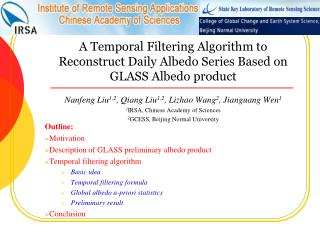 A Temporal Filtering Algorithm to Reconstruct Daily Albedo Series Based on GLASS Albedo product