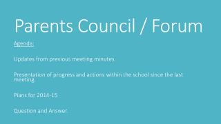 Parents Council / Forum