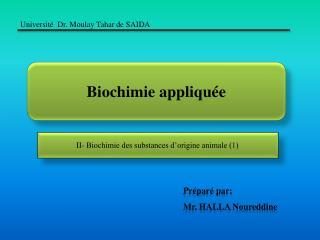Biochimie appliquée
