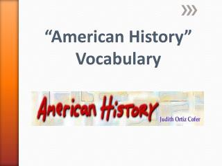 """American History"" Vocabulary"