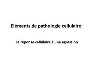 Eléments de pathologie cellulaire
