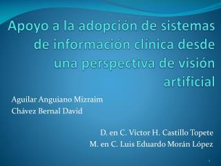 Apoyo a la adopción de sistemas de información clínica desde una perspectiva de visión artificial