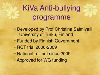 KiVa Anti-bullying programme