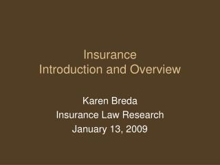Insurance Introduction and Overview