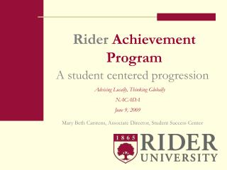 Rider Achievement Program