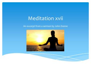 Meditation xvii