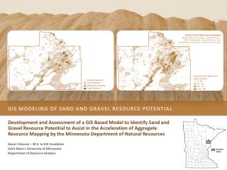 gis modeling of Sand and gravel resource potential