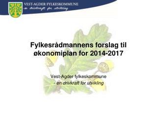 Fylkesrådmannens forslag til økonomiplan for 2014-2017