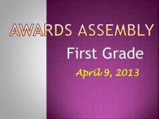 Awards assembly