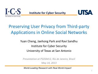Preserving User Privacy from Third-party Applications in Online Social Networks