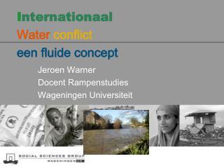 I nternationaal Water  conflict  een fluide  concept
