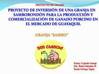 PROYECTO DE GRADO:
