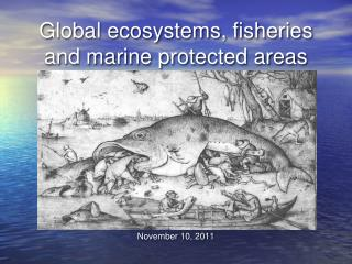 Global ecosystems, fisheries and marine protected areas