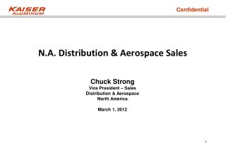 N.A . Distribution & Aerospace Sales