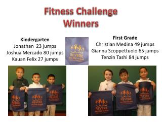 Fitness Challenge Winners