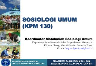 SOSIOLOGI UMUM (KPM 130)