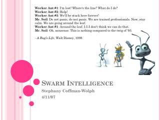 Swarm Intelligence