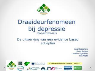Draaideurfenomeen bij depressie 2DWO/RE/2008/P029