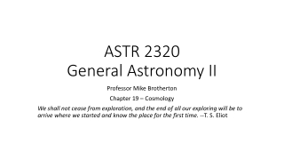 Unit 1: Cosmology and Earth s Place in Space