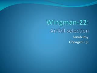 Wingman-22: Airfoil selection