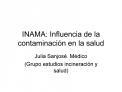 INAMA: Influencia de la contaminaci n en la salud