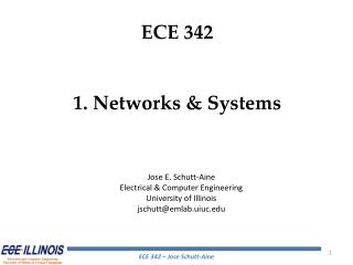 ECE 342 1. Networks & Systems