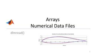 Arrays Numerical Data Files