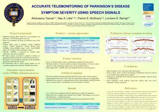 Accurate Telemonitoring  of  parkinson's  disease Symptom severity using speech signals