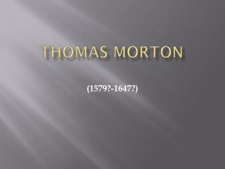 Thomas Morton