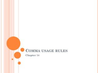 Comma usage rules