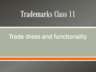 Trademarks Class 11