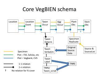 Core  VegBIEN  schema