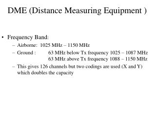 DME Distance Measuring Equipment