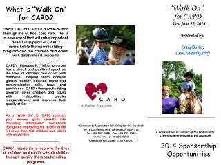 2014 Sponsorship Opportunities
