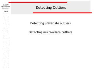 Detect outliers