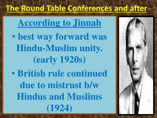 The Round Table Conferences and after