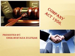 Company act 1956.