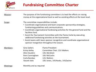 Fundraising Committee Charter