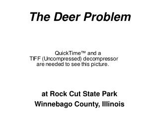 DEER PROBLEM POWERPOINT