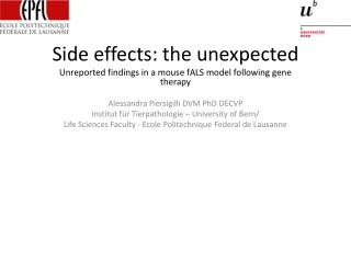 Side effects: the unexpected