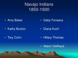 Navajo Indians 1850-1930