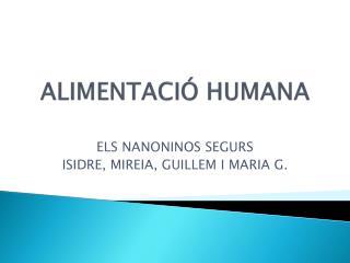 ALIMENTACIÓ HUMANA
