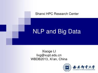 NLP  and  Big  Data
