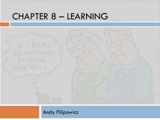 Chapter 8 � Learning