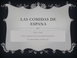 Las  Comidas  de  Espana