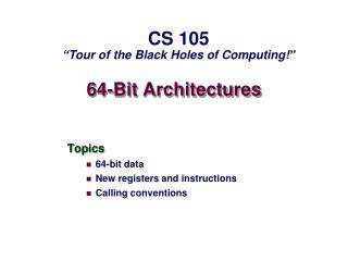 64-Bit Architectures