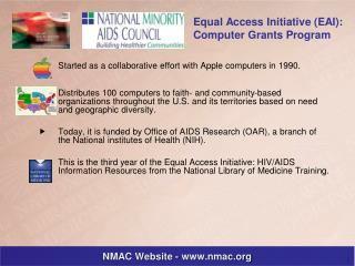 Equal Access Initiative: HIV