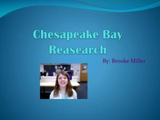 Chesapeake Bay Reasearch